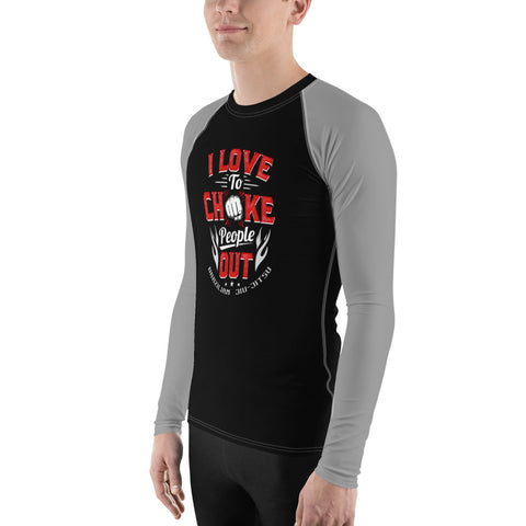Men's BJJ Rash Guard - I Love Chokes