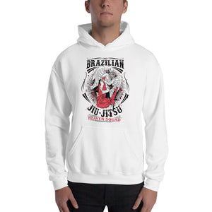 Angel Warrior BJJ Hooded Sweatshirt White