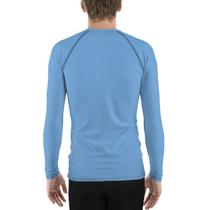 Men's BJJ Rash Guard - Simple Blue