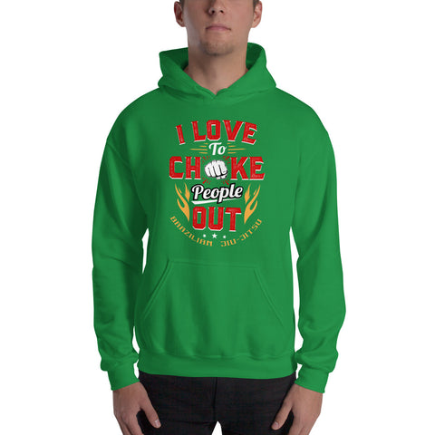 BJJ Hooded Sweatshirt - Chokes Fan
