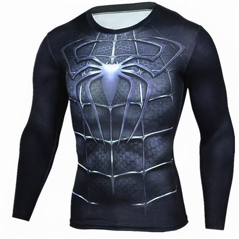 Spider Black BJJ Rash Guard