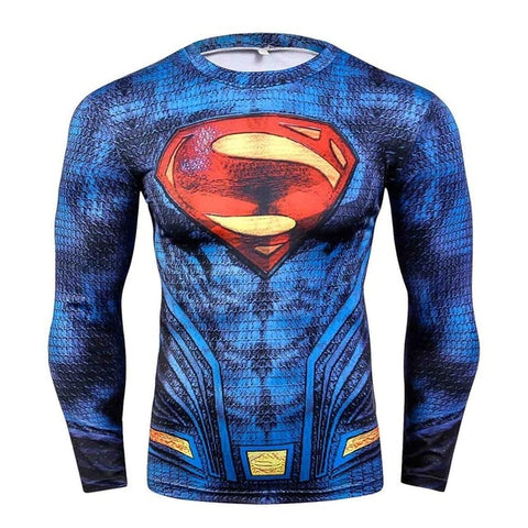 Image of Superman Blue BJJ Rash Guard