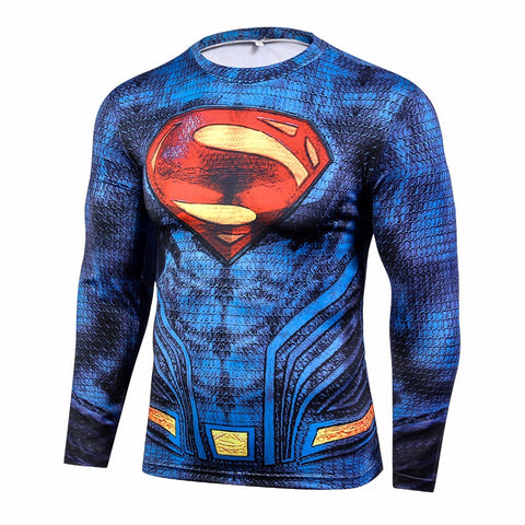 Superman Blue BJJ Rash Guard