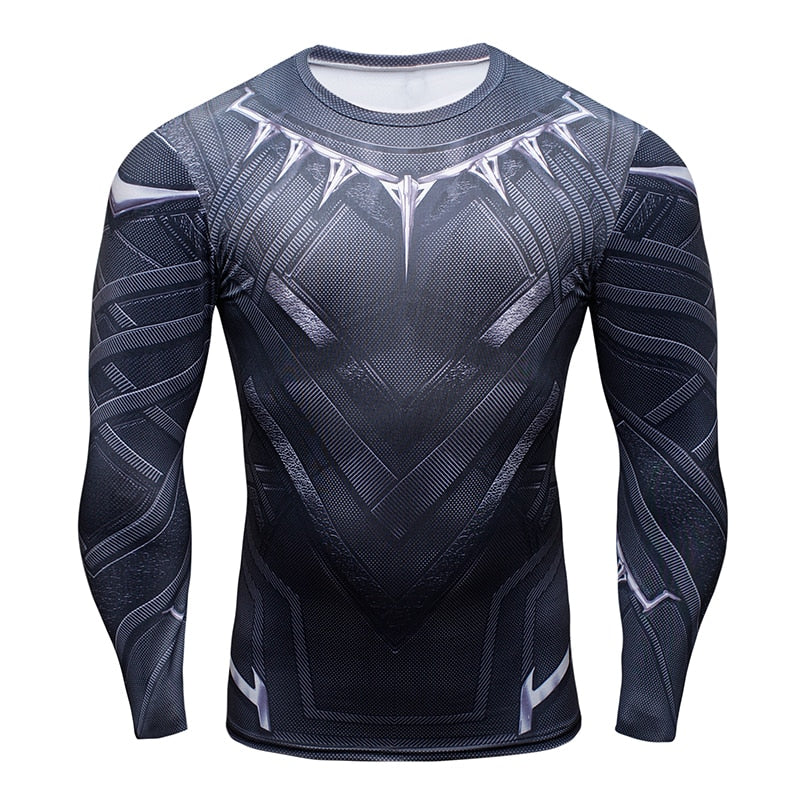 Black Panther BJJ Rash Guard