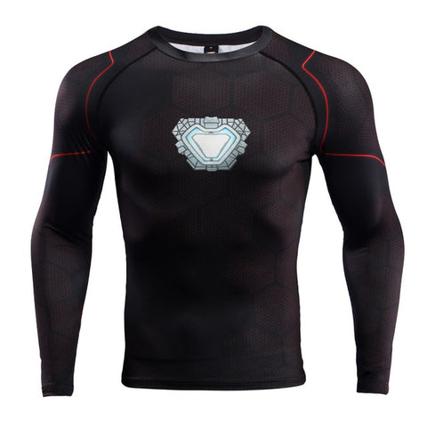 Image of Ironman Repulsor BJJ Rash Guard