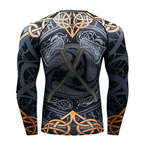 BJJ MMA Rash Guard - Warrior