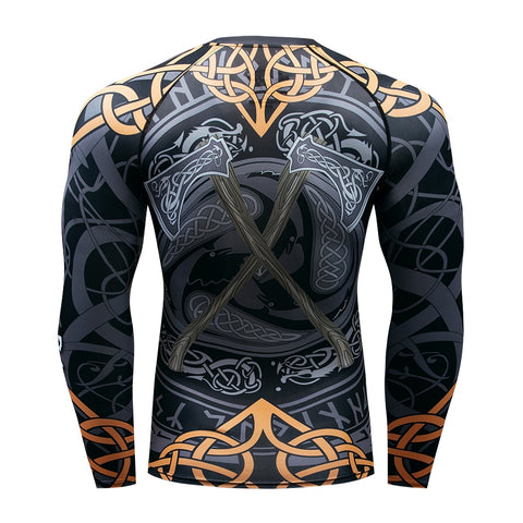 Image of BJJ MMA Rash Guard - Warrior