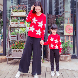 Kersttrui Matching.Christmas Family Matching Father Mother Daughter Son Knit Wear