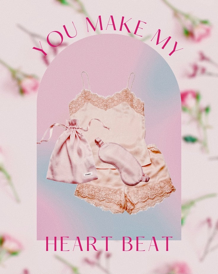 'You Make My Heart Beat' Gift Set - Blush
