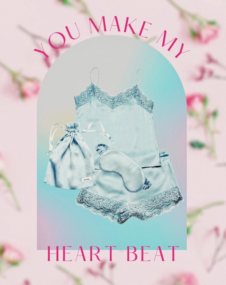 'You Make My Heart Beat' Gift Set - Blue