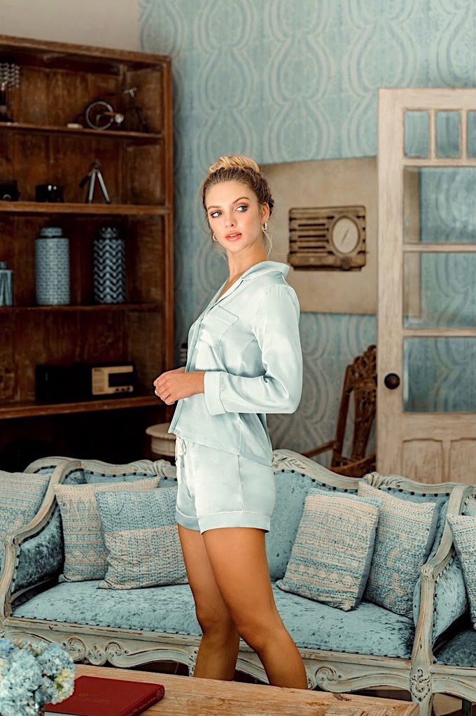 Iconic Lounge Attire - Dusty Blue