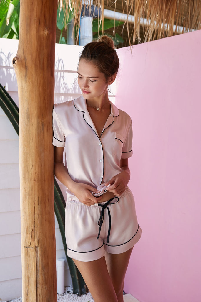 Iconic Bedtime Attire - Light Blush - Wustler
