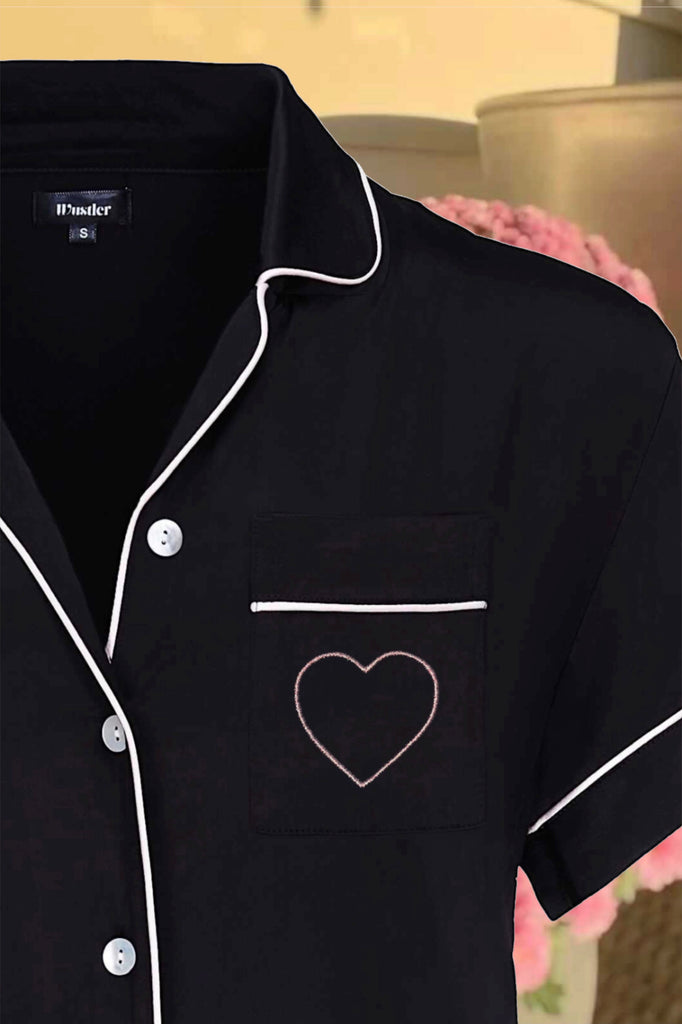Iconic Bedtime Attire - Jet Black (Valentine's Edition)