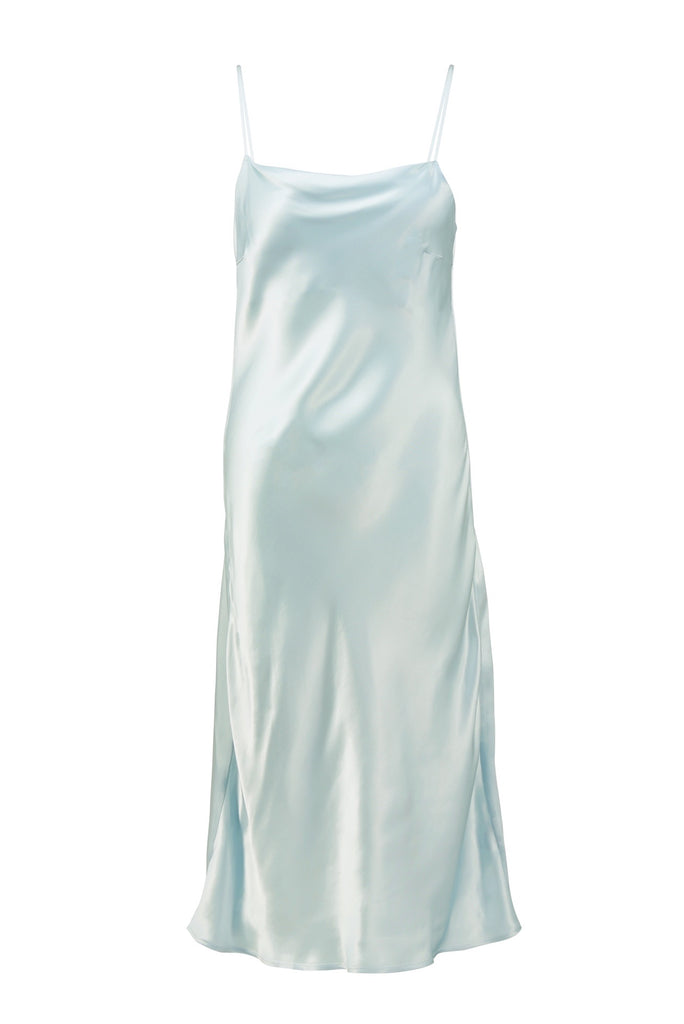 Flaunt Slip Dress - Dusty Blue (New Edition)