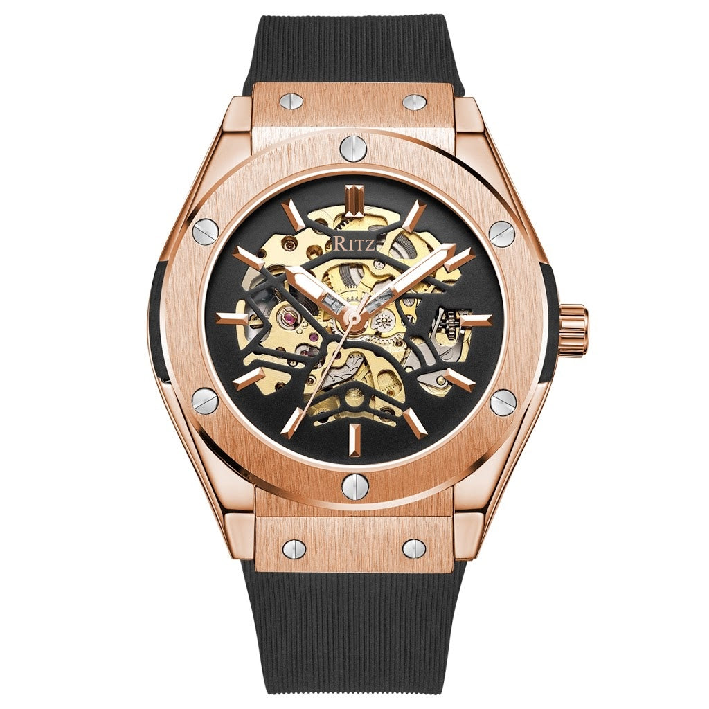 ATLAS AUTOMATIC SKELETON / ROSE GOLD BLACK
