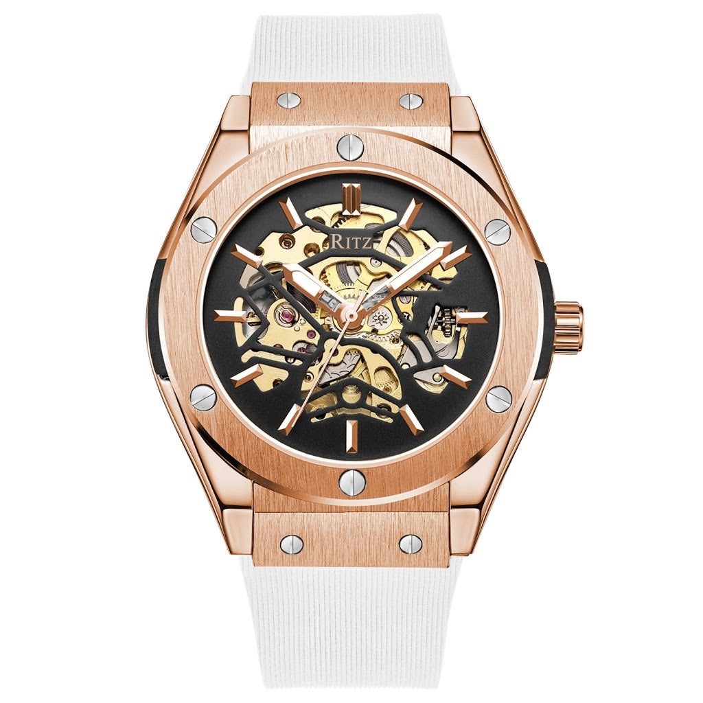 ATLAS AUTOMATIC SKELETON / ROSE GOLD WHITE