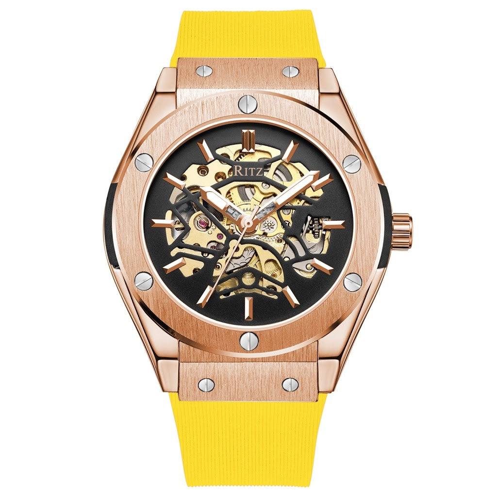 ATLAS AUTOMATIC SKELETON / ROSE GOLD YELLOW