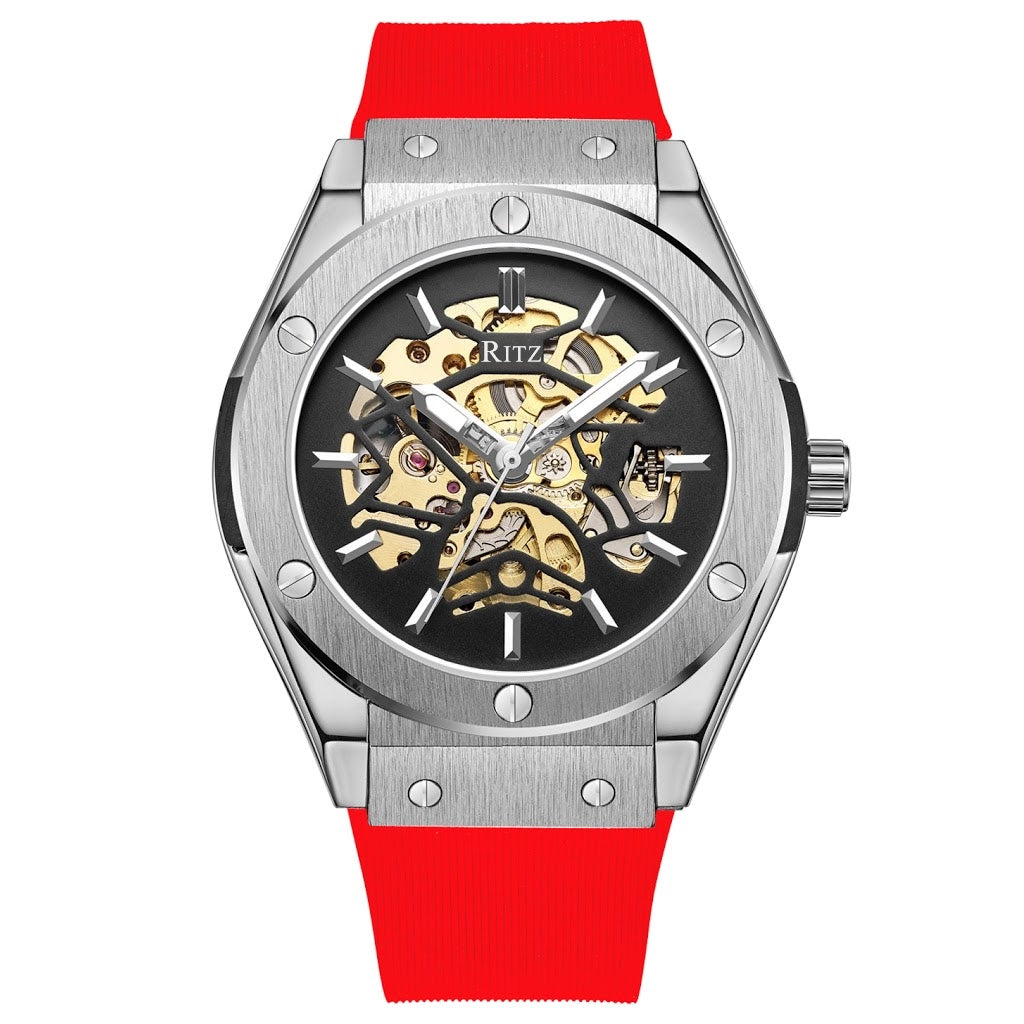 ATLAS AUTOMATIC SKELETON / SILVER RED