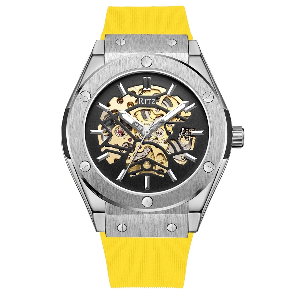ATLAS AUTOMATIC SKELETON / SILVER YELLOW