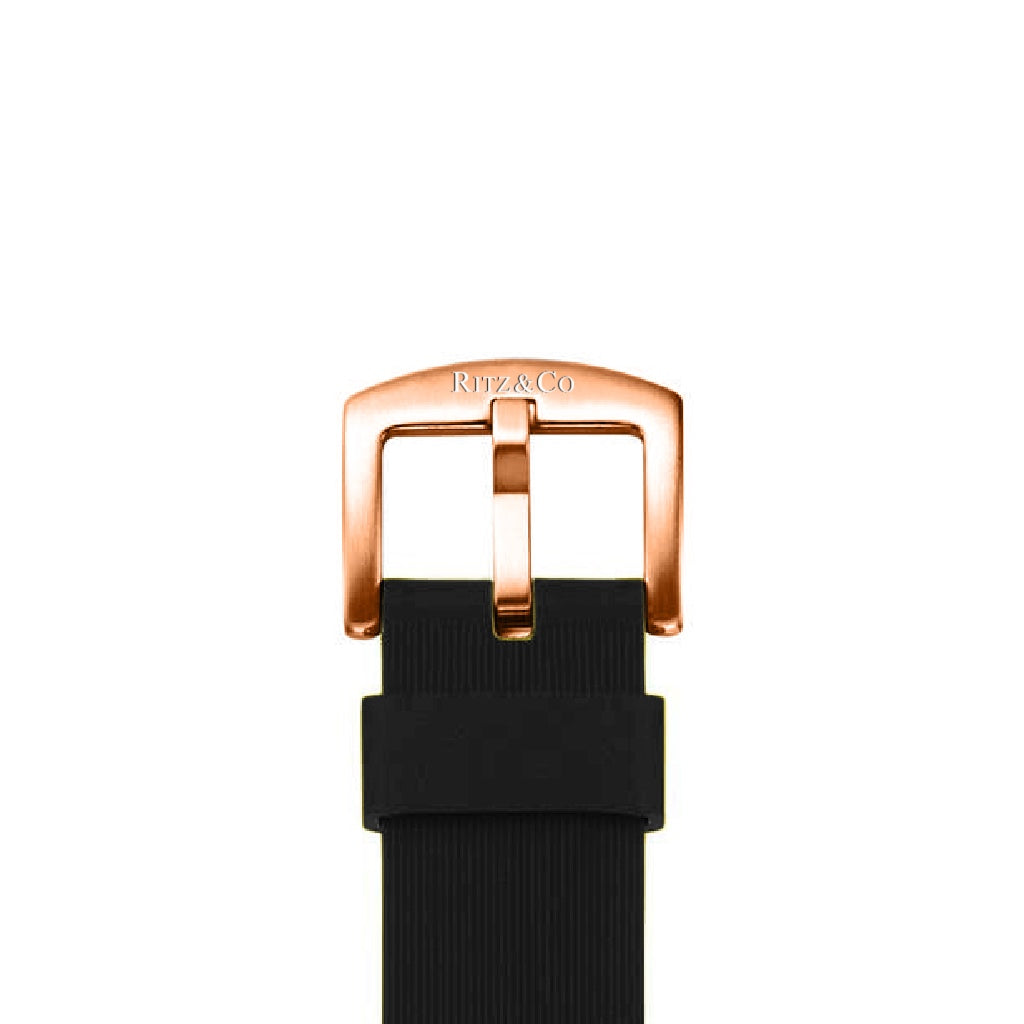 ATLAS STRAP BLACK / ROSE GOLD