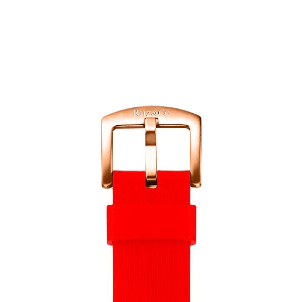 ATLAS STRAP RED / ROSE GOLD