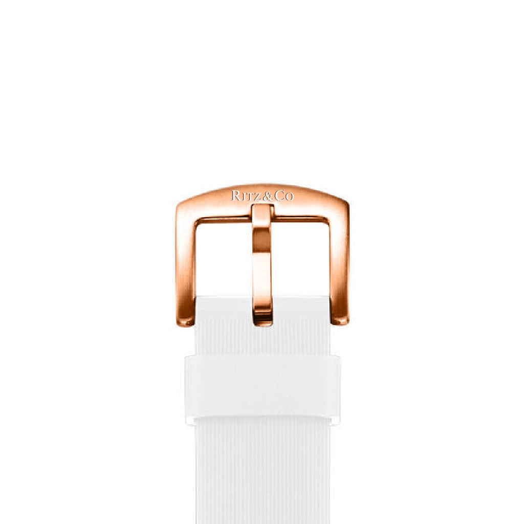 ATLAS STRAP WHITE / ROSE GOLD