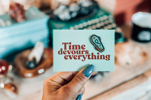 Time Devours Everything Pin