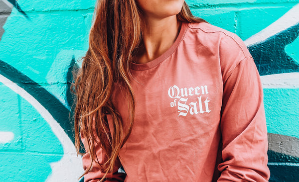 Queen of Salt Long Sleeve Crop