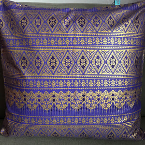 45 x 45 cm square cushion cover - purple and gold