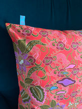 45 x 45 cm square cushion cover - red floral batik