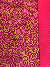 Yoga Mat Bag - pink curly geometric