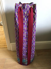 Yoga Mat Bag - purple and burgundy geometric