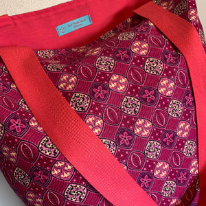 Tote Bag - pink abstract floral