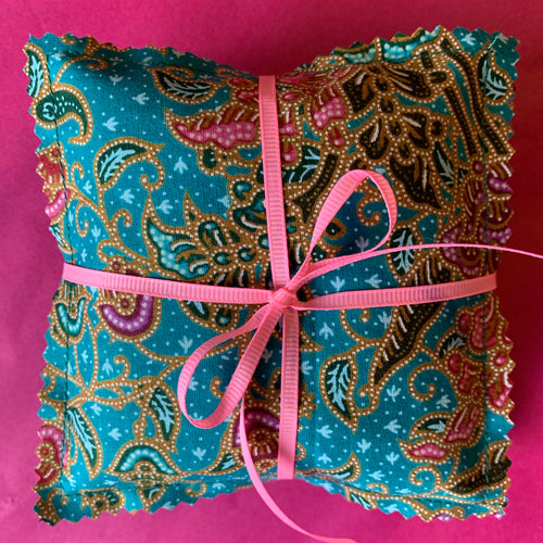 Set of 3 Lavender Filled Drawer / Clothing Sachets - Turquoise