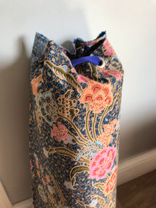 Yoga Mat Bag - midnight blue batik