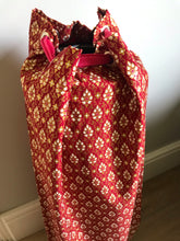 Yoga Mat Bag - red and pink geometric