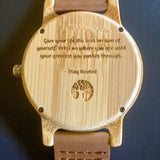 Doral Court Wooden Watch
