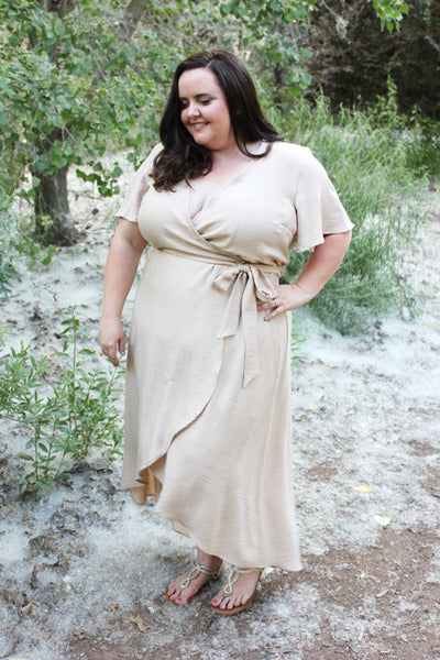 Washed Linen Wrap Dress