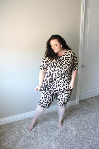 Bella Loungewear Set Leopard (3X-5X)