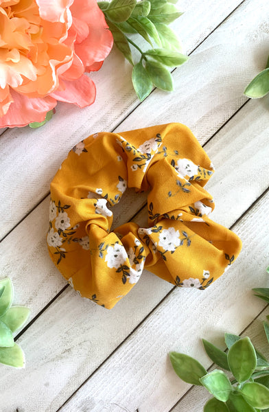 Spring Floral Scrunchies