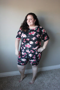 Plus size matching loungewear set sizes 1X-5X