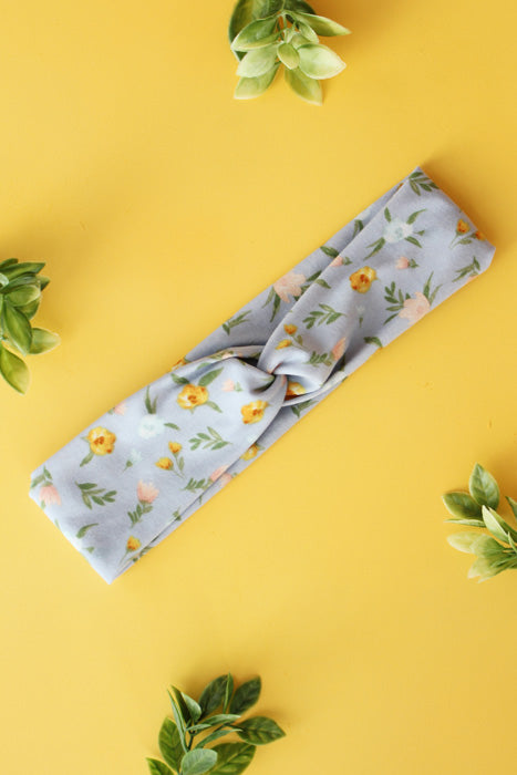 Baby Blue Floral Brainy Melon® Headband