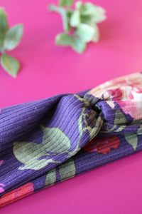 Purple Floral Brainy Melon® Headband