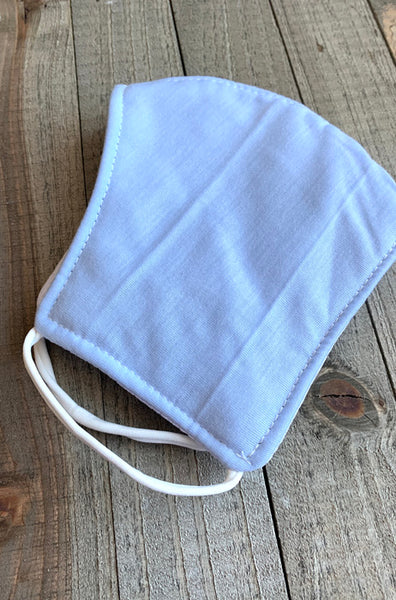 Light Blue Cotton Face Mask