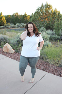 Heathered Willow Perfect Leggings in Charcoal