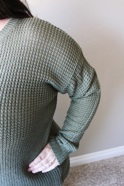 Birthday Sweater in Light Olive