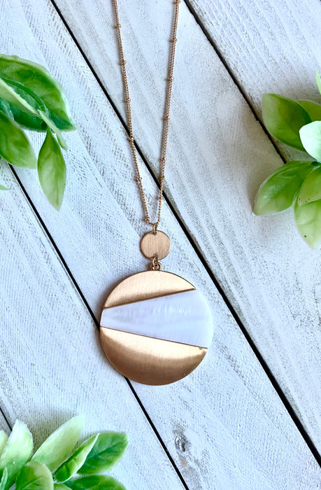 Abstract Disc Pendant