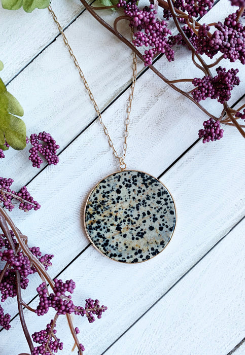 Freckled Natural Stone Pendant