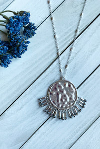 Boho Pendant Necklace in Silver