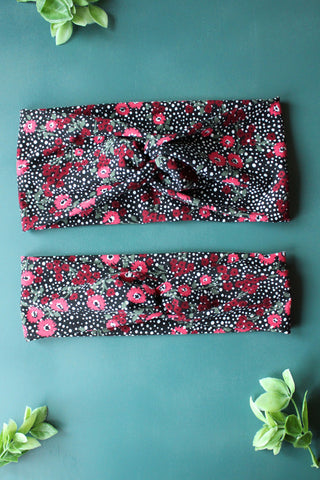 Floral Polkadot Brainy Melon® Headband and Wrap